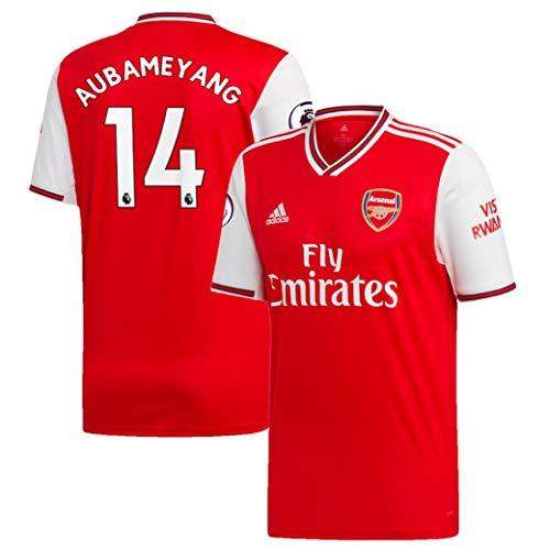 Youth Arsenal 2019-20 Aubameyang Home Long Sleeve Jersey (Youth US Medium) Red
