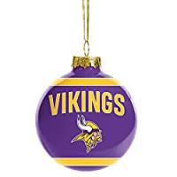 FOCO NFL Glass Ball Ornament - Limited Edition Christmas Ball Ornament - Show Your Team Spirit with Officially Licensed Fan Gear (Minnesota Vikings)