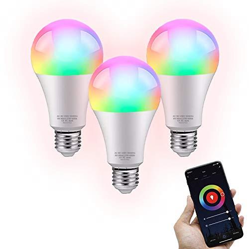 FlinQ E27 Smart Lampe 3er-Pack Smart Glühbirne | Smart Led Lampe | WLAN Smart Bulb Kompatibel mit Alexa und Google Assistant | Smart Home Lampe mit App für Android und iOS | Energieklasse A+