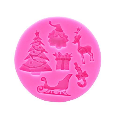 vosarea Silicona Papá Noel árbol de navidad moldes instrumentos para decorar La...