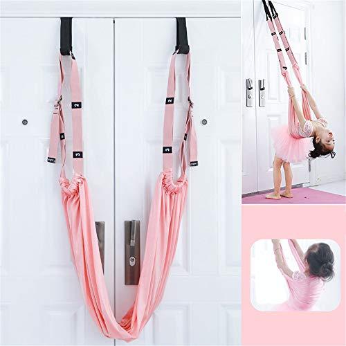 QHGao Aerial Yoga Swing Set, Gebruikt voor Aerial Yoga Praktijk, voor beginners en kinderen om de schommel te omkeren, geen Punch Design, Laad 300 Kg