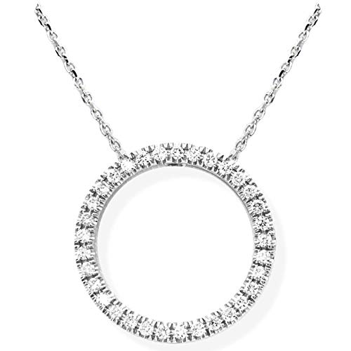 Dove Diamond Pendant Round 925 Sterling Silver (18K Gold Plated), 0.27Ct Diamond in VS Clarity, EF Color Lab Grown | 50cm Extendable Silver Chain | Certified, Ethical Eco-Friendly Jewellery for Women