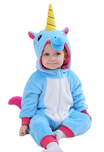 Tonwhar Pelele estilo disfraz de dinosaurio, tigre, para niños pequeños, con capucha
