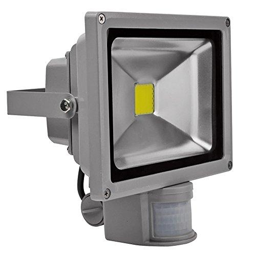 Preisvergleich Produktbild LED Fluter mit Bewegungsmelder Strahler Scheinwerfer Flutlicht Aussen,  IP65,  COB,  1500 - 1800 Lumen,  20 Watt,  6000 Kelvin,  kaltweiß
