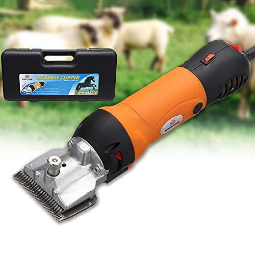 FCX-SHEARS Elektrische Schermaschine Pferd/Schafe, Tragbare Schere Elektrische Tierhaarschneidemaschine,für Ziegen Alpakas Lamas Dickhaarige Tiere,Haustierbedarf für Nutztiere auf dem Bauernhof 320W