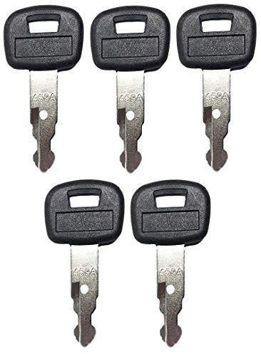 5 Pack Keys for Kubota Mini Excavator, Backhoe, Skid Steer, Track Loader RC411-53933, RC461-53930, 459A (5)