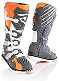 Acerbis X-Race - Botas de motocross gris/naranja 43