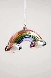 Cody Foster & Co Metallic Pastel Rainbow Glass Hanging Ornament