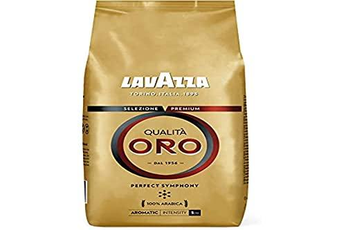 Lavazza Café en Grano, Qualità Oro Perfect Symphony, Café Espresso 100% Arábica Redondo y Aromático, Paquete de 1 Kg