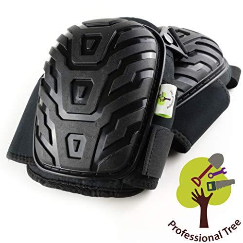 ProfessionalTree Rodilleras de trabajo - Calidad Premium - Protección profesional para trabajos en posición de rodillas - Acolchado de espuma de gel con cierre rápido