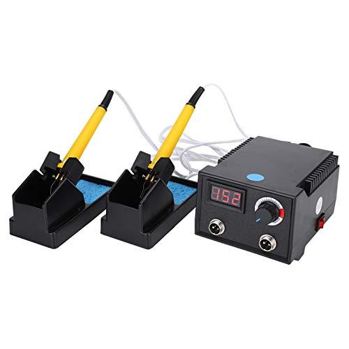 needlid Juego de Herramientas de pirograbado, Host de Pantalla Digital Resistente a caídas con 2 Orificios de(European Standard 220V)