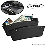 lebogner 2 Pack Car Seat Gap Filler Premium PU Full Leather Seat Console Organizer, Car Po...