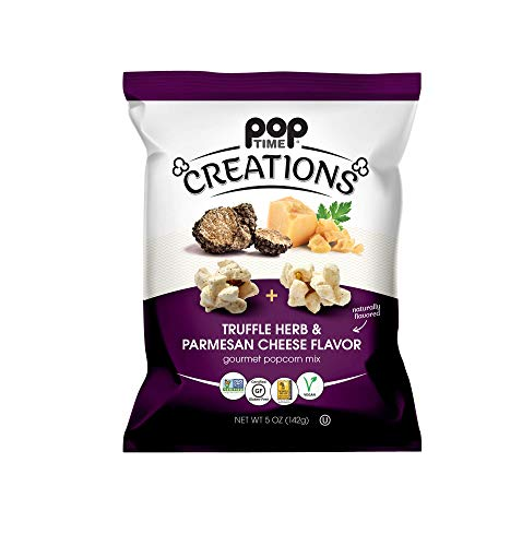 New Poptime Creations - Truffle Herb & Parmesan Case of 6 - 5 oz Bags