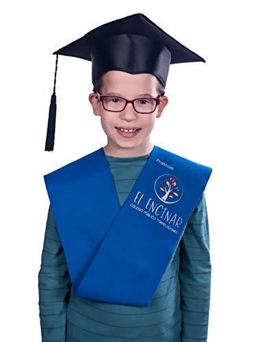 Tiltextil Birrete de graduación infantil y primaria - Azul, Infantil