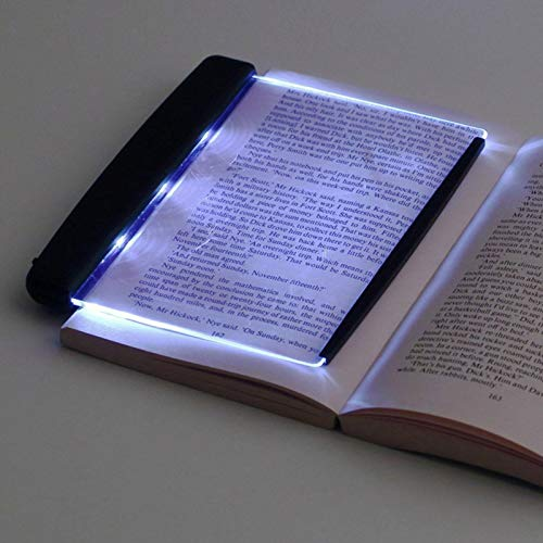 Luz de lectura plana LED de visión nocturna, portátil, rectangular de mano, para proteger los ojos, libro de tapa blanda, lámpara de lectura para decoración del hogar, no incluye batería