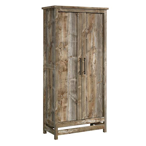 Sauder Granite Trace Storage Cabinet, L: 35.2  x W: 16.26  x H: 71.97 , Rustic Cedar