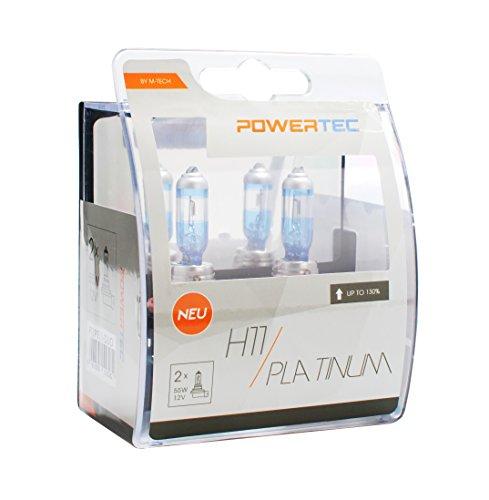 M-Tech PTZPT11 Powertec Platinum Lot de 2 ampoules +130 % H11 12 V