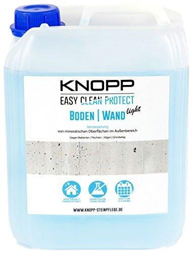 Knopp Boden|Wand Light, Versiegelung + Langzeitschutz vor Flechten, Grünbelag, Bakterien und Algen, gebrauchsfertig, 5l