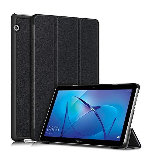 topCASE Custodia per Huawei Mediapad T3 10 9.6Pollice Ultra-Sottile Cover con Funzione Supporto,Nero