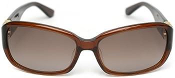 Salvatore Ferragamo Brown Rectangular Ladies Sunglasses