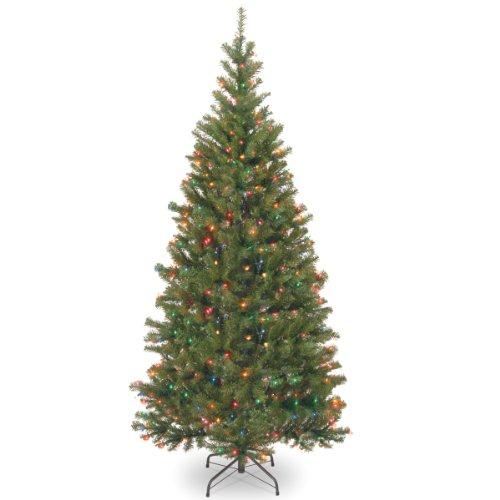 National Tree Company Pre-lit Artificial Christmas Tree | Includes Pre-Strung Multi-Color Lights and Stand | Aspen Spruce - 6 ft