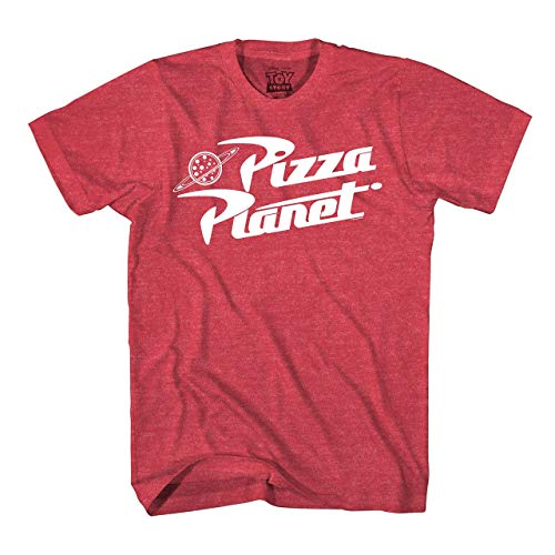 Toy Story Pizza Planet Delivery Adult T-Shirt (Medium, Heather Red)