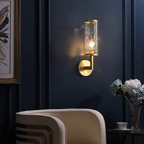 De enige goede kwaliteit Decoratie Moderne Licht Slaapkamer Nachtlampje Noordse Minimalistische Creatieve Woonkamer Wandlamp Amerikaanse Alle Koper Lampen E14 Lamp