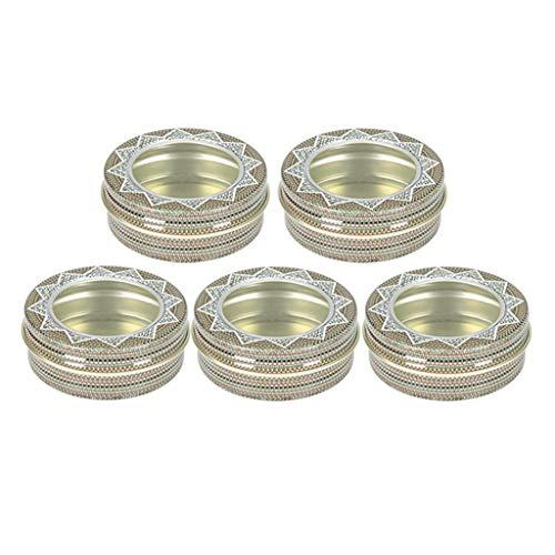 joyMerit Tarros de Lata de Aluminio Paquete de 5 Latas de Metal de Muestra Cosmética Envase Vacío