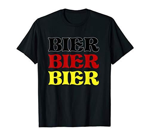 Bier Oktoberfest Bier Deutsche Flagge Bier Fest T-Shirt