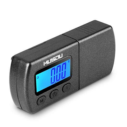 MUSOU Tester Maßstab Kraft von Eingabestift für Plattenspieler Waage 0.01 g LCD Hintergrundbeleuchtung blau für Arm Plattenspieler Phono Musikkassette – Schwarz Matt
