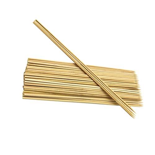 YARNOW Brochetas de Bambú Desechables Palitos de Malvavisco Palitos de Barbacoa para Asar Palitos para Asar Perros Calientes Tabobs Barbacoa 50Cm