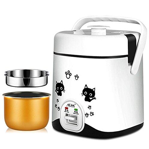 NANXCYR rijstkoker multifunctionele elektrische slow-cooker perfect automatische anti-aanbaklaag koker (liner gewenst en niet gewenst, 1,2 l, 220 W)