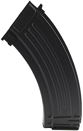 SportPro 150 Round Metal AKM Style Medium Capacity Magazine for AEG AK47 AK74 Airsoft - Black