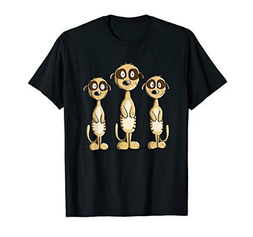Lustige Erdmännchen I Tiermotiv für Wildtier Freunde I Fun T-Shirt
