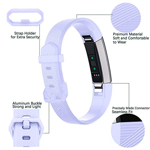 Maledan Bands Compatible with Fitbit Alta/Alta HR and Fitbit Ace, 3-Pack, Teal/Lilac/Rose Pink, Small