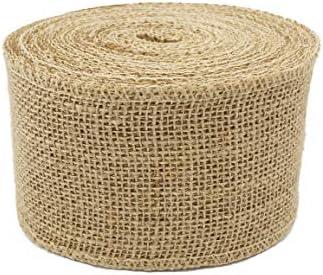 Goldenvalueable 3 Wide Burlap Fabric Craft Ribbon On Spool 10 Yards product image