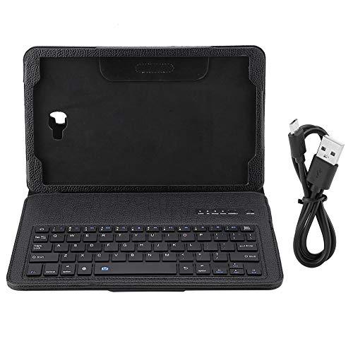 """Funda para teclado de tableta,cubierta de teclado inalámbrico Bluetooth para Sumsung Tab A 10.1 T580 diseñada para la tableta Samsung Galaxy Tab A 10.1 """"T580,compatible con el sistema Android(Negro)"""