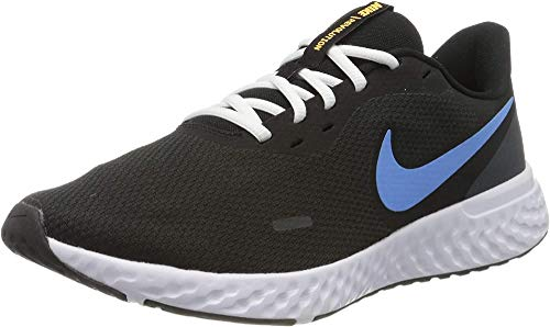 Nike Men's Revolution 5 Running Shoe, Black/University Blue-Laser Orange-White-Anthracite, 10 Regular US