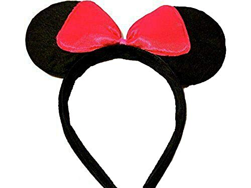 All Accessories Angelina Ballerina Orejas Ratn Minnie Mouse Diseo Disfraz Orejas Negro/Rosa