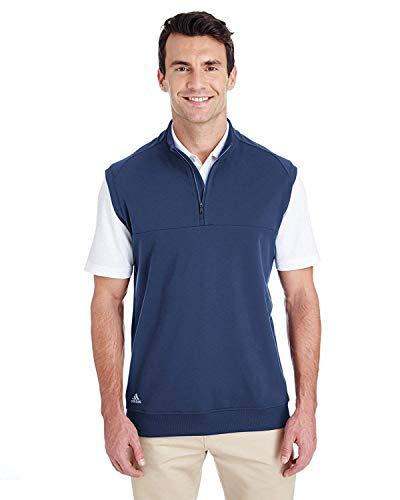 Adidas Mens QuarteR-Zip Club Vest (A271) -Dark Slate -S