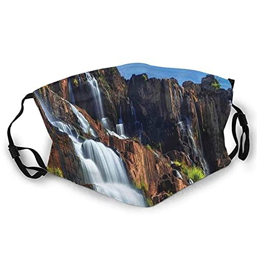 Pongour Cascada Exótica Asiática Belleza Natural Paisaje Montaña Rocas Imprimir Cara M-A-S-K Pañuelo Lavable Para Adultos Hombres Mujeres