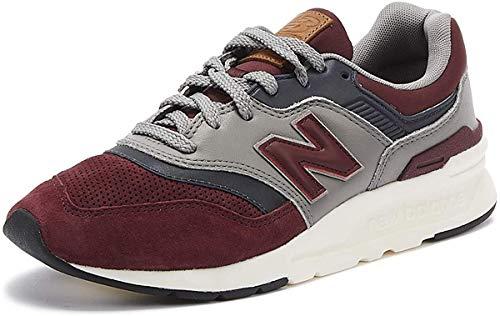 New Balance 997 Hombres Burdeos Cuero Zapatillas-UK 6 / EU 39.5