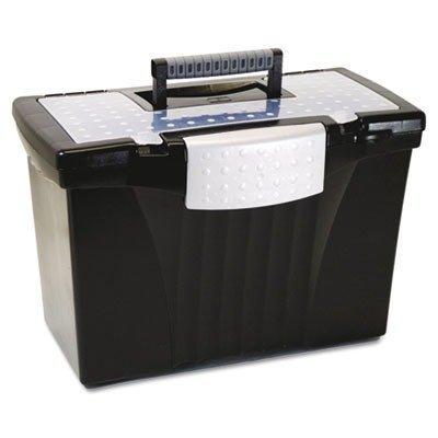 Storex Portable à compartiments-Boîte de rangement avec couvercle, lettre 61510U01C Par Storex (Noir) Industries Corp.