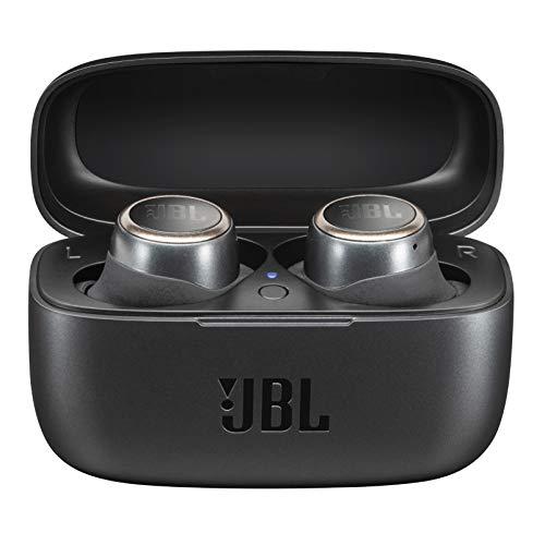 JBL LIVE 300TWS - Auriculares inalámbricos intraaurales, con Bluetooth y tecnologías TalkThru y AmbientAware, hasta 20h de música, Negro