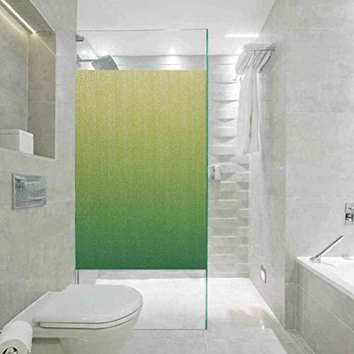 Película de vidrio con protección de la luz y privacidad, color verde lima, fondo digital a rayas, película de vidrio de privacidad para el hogar y la oficina, W35.4 x H78.7 pulgadas
