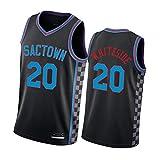BFDC Kings#20 Whiteside#3 Ramsey#0 Haliburton uniforme de baloncesto fresco transpirable tela sin mangas chaleco nuevo fan jersey sudadera deportes moda XL No.20