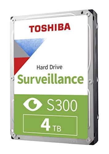 """Toshiba S300 4TB Surveillance 3.5"""" Internal Hard Drive – SATA 6 Gb/s 5400 RPM 128MB Cache (HDWT140UZSVAR)"""