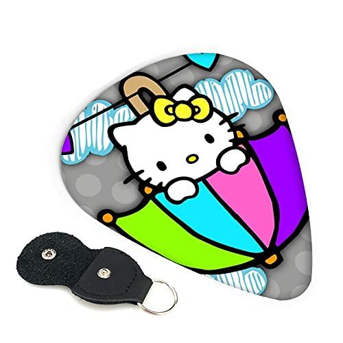 Púas para guitarra Hello Kitty (6 unidades, incluye púas, delgadas, medianas pesadas, 0,46 mm, 0,71 mm, 0,96 mm, adultos, hombres, mujeres, adolescentes, 0,96 mm)