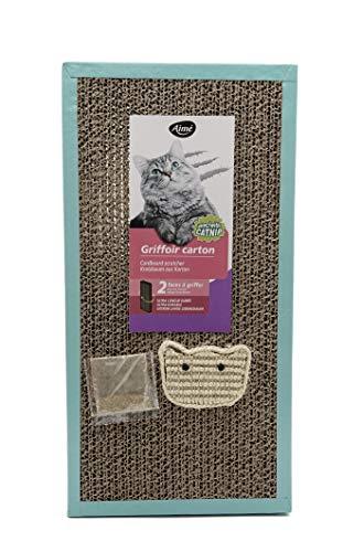 Aime - Rascador de cartón Doble Cara Recta, 45 x 23 x 3 cm, 1 Unidad