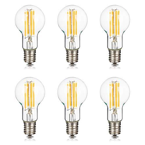 Haian Support フィラメント電球 E17口金 60W形相当 ミニクリプトン電球 6W LED電球 電球色 3000k 600lm シャンデリア 広配光タイプ 調光器非対応 A40 6個入り